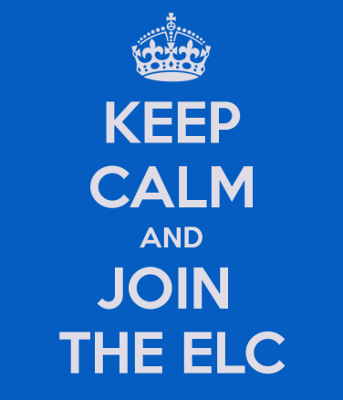 keep calm and join elc